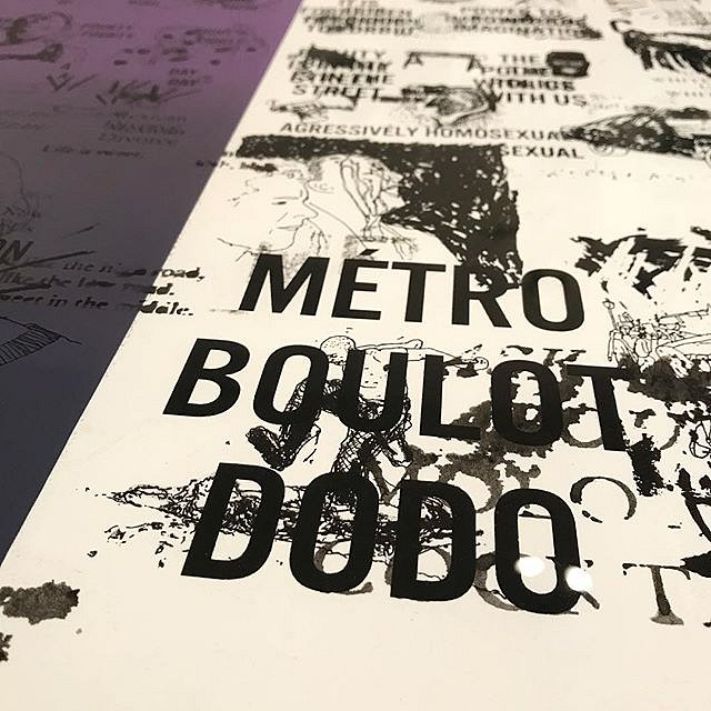"DC Violet, Detail of monotype ans collage, ""Métro Boulot Dodo"", detail from A #CongregationOfWits a limited edition silkscreen print by Andrew Cornell Robinson @acrstudio presented by @tohellwithculture @satelliteartshow #miami #notbasel #art #artforsale"