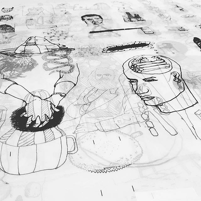 Drawings on acetate films from a new project titled A Congregation of Wits by Andrew Cornell Robinson @acrstudio #limitededition #silkscreen #print #art #drawing #workinprogress