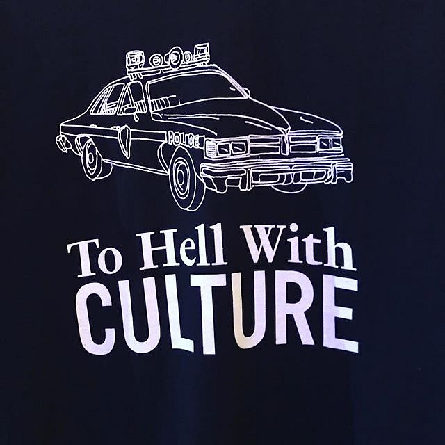 Riding in cop cars. You know you want this tshirt You say you have no budget for art, gurl, wear some. We have a t-shirt just for you;) @acrstudio on view @satelliteartshow adjacent to @newartdealers not @artbasel #tshirt #art #miami