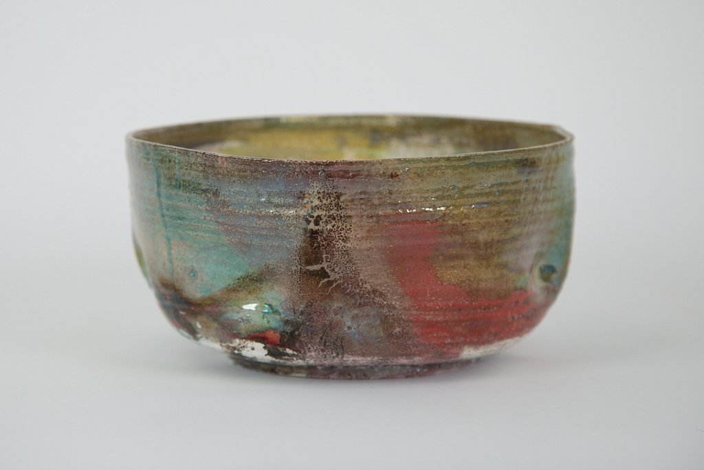 Vessel (green, red, kintsugi gold)