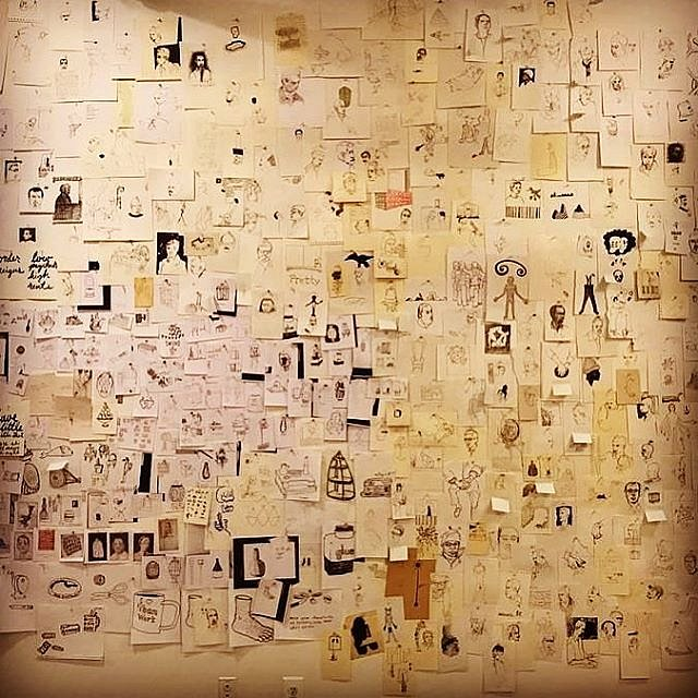 One thousand drawings culled from sketchbooks