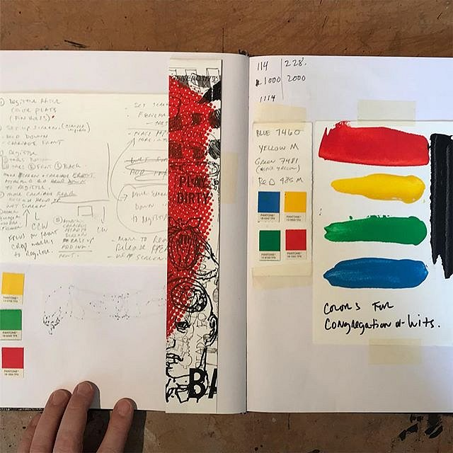 #sketchbook @acrstudio #color  Working through the color for the limited edition print A #CongregationOfWits by @acrstudio