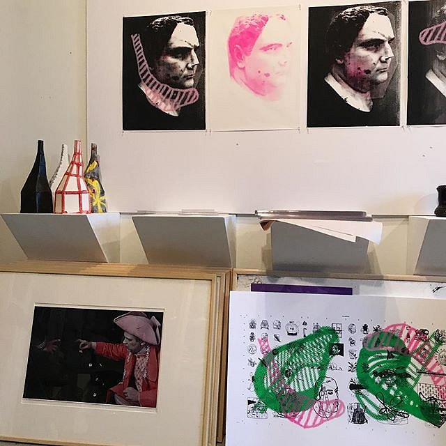 Whats on the wall @acrstudio #new #silkscreen #prints A  #CongregationOfWits #artistsoninstagram #nyc